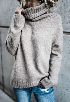 $36.99!Chicnico Causal Knit High Neck Loose Sweater fall fashion travel trend causal oversize top how to look fashion cheap online store