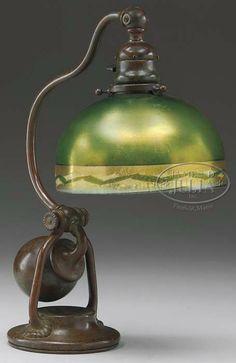 TIFFANY STUDIOS COUNTERBALANCE DESK LAMP ~ James D. Julia Images