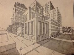2-point perspective buildings by deann