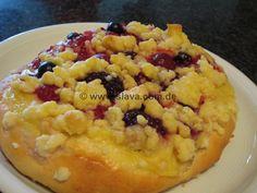 Schnelle softe Pudding-Obst-Streusel-Teilchen-Taler « kochen & backen leicht gemacht mit Schritt für Schritt Bilder von & mit Slava