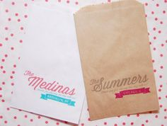 50 Simple Banner Candy Buffet Bags Wedding by FoxandHoundPaperie, $30.00
