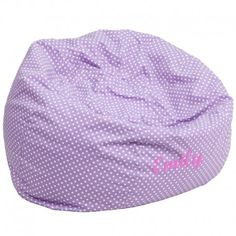 Flash Furniture DG-BEAN-SMALL-DOT-PUR-GG The comfy bean bag chair is a great way for kids to sink into comfort. The lightweight bean bag allows children to tote it all over the house. The slipcover ca Small Bean Bags, Cool Bean Bags, Kids Bean Bags, Oversized Bean Bag Chairs, Small Bean Bag Chairs, Purple Bean Bags, Childrens Bean Bags, Classic Bean Bags, Soft Seating