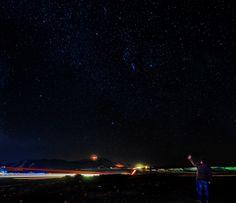 A night full of stars! by Aziz Nasuti on Northern Lights, Landscapes, Stars, Night, Nature, Travel, Paisajes, Viajes, Sterne