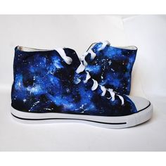 Custom handpainted galaxy sneakers,personalized shoes, galaxy... ($39) ❤ liked on Polyvore featuring shoes, sneakers, galaxy, galaxy shoes, planet shoes, nebula shoes, cosmic shoes and galaxy print shoes