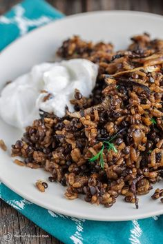 Mujadara Recipe: Lentils and Rice with Crispy Onions | The Mediterranean Dish. The flavor intensity of this humble Middle Eastern dish of lentils and rice will surprise you! And all you need are three ingredients! See the step-by-step photos at The Mediterranean Dish.