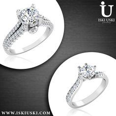 skiUski collection only for women #diamond #rings | #solitaire #ring | IskiUski.com