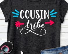 Etsy :: Your place to buy and sell all things handmade Cousin Tshirts, Mom Shirts, Kids Shirts, T Shirts For Women, Create T Shirt, How To Make Tshirts, Bob Marley, Travel Shirts, Family Outfits