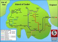 """Sodor """"Subway"""" Map"""