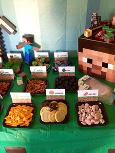 Minecraft Food Sign Tent Cards PDF 75 DIY, Instant Download