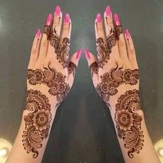 Easy & Simple Eid Mehndi Designs 2018 for Hands with Images – Fashion Cluba Eid Mehndi Designs, Simple Arabic Mehndi Designs, Bridal Henna Designs, Mehndi Simple, Beautiful Mehndi Design, Latest Mehndi Designs, Mehndi Designs For Hands, Simple Mehndi Designs, Hena Designs