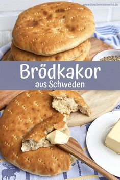 Rustikales Fladenbrot nach schwedischem Rezept. Einfache Zubereitung. #brödkakor #fladenbrot #rustikal #rezept #schweden #hefeteig