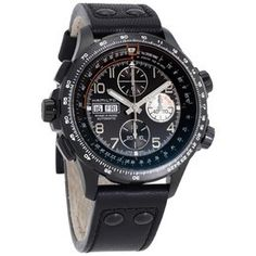 Hamilton Men's Khaki X Wind Automatic Chronograph Men's Watch H77616533 H77616533 - Watches, Hamilton - Jomashop Sport Watches, Watches For Men, Zeppelin Watch, Down Band, Black Crystals, Automatic Watch, Stainless Steel Case, Hamilton, Chronograph