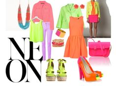 Neon and colorful. Style Me, Cool Style, Jen Jen, Out Of The Closet, Fabulous Foods, Neon Colors, Colored Blazer, Blazers, Fancy