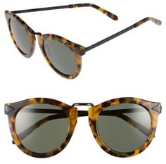 Karen Walker 'harvest' 50mm Retro Sunglasses in Black