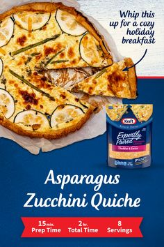 Good for any meal—Kraft's Asparagus Zucchini Quiche will warm you up on a cold winter day. Tap the Pin to get the recipe. Quiche Recipes, Brunch Recipes, Veggie Recipes, Appetizer Recipes, Appetizers, Breakfast Bake, Breakfast Dishes, Breakfast Recipes, Easy Cooking