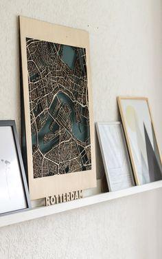 Citymap Rotterdam Berken (50×70)