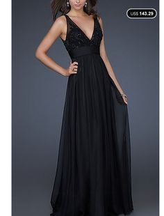 Graceful A-line Chiffon And Tulle V-neck Floor-length Beading Prom Dress - See more at: Loveseason.com