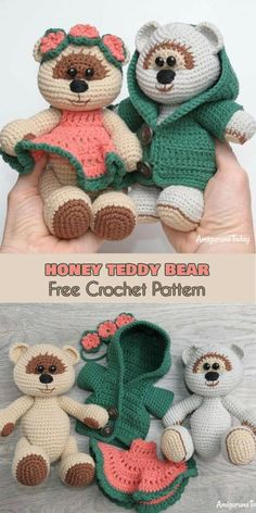 Honey Teddy Bear [Free Crochet Pattern] Follow us for ONLY FREE crocheting patterns for Amigurumi, Toys, Afghans and many more!