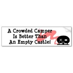 Bumper Sticker Vintage Camper RV Travel Trailer