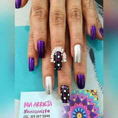 #clientafeliz #Neida #nailsart esmaltes #slendy103 #slendymetalizado116 #slendy150 #maxyglitter #slendy123