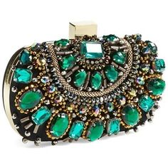 Natasha Couture Beaded Minaudiere