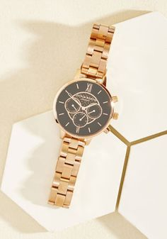 #AdoreWe #ModCloth Jewelry - ModCloth Wrist Opportunity Watch in Black Rose Gold - Big - AdoreWe.com
