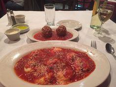 Homemade Ravioli and Meatballs