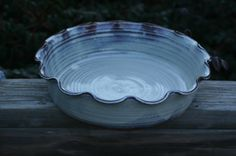 Pottery Pie Plate in Cream Glaze for by Beaverspottery on Etsy, $30.00
