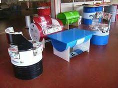 Resultado de imagem para steel drum oil table basse