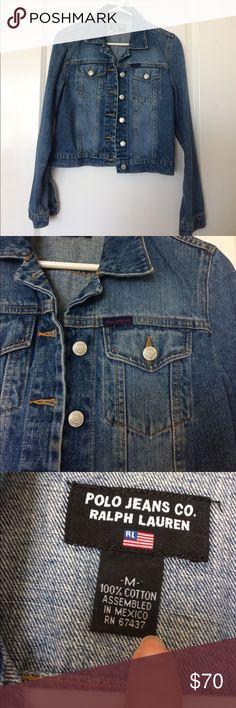 Vintage Polo Jeans Ralph Lauren denim jean jacket Vintage Polo Jeans Ralph Lauren denim jean jacket Polo by Ralph Lauren Jackets & Coats Jean Jackets