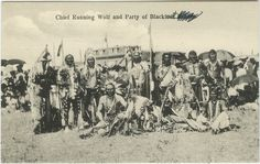 United Church of Canada Archives - Digital Collections | Chief Running Wolf and party of Blackfoot