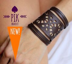 NEW model HOT PRICE Leather Bracelet cuff Leather Cuff