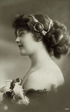 Vintage lady in profile 0004 by MementoMori-stock.deviantart.com on @DeviantArt
