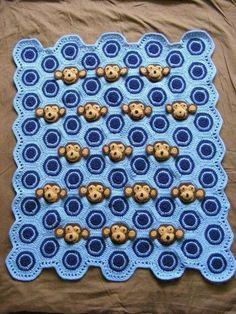 Baby Boy Crochet Monkey Blanket Pattern   Craftsy