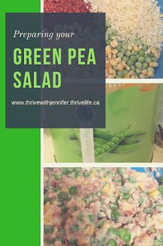 This salad is the perfect alternative to a pasta salad. It has a fresh and bright flavour that appeals even to your pickiest eaters! With Ham, peas and corn, what's not to love! Fast and delicious salad! Green Pea Salad, Green Peas, Easy Salad Recipes, Potluck Recipes, Soup And Salad, Pasta Salad, Thrive Life, Ham, Dinner Ideas