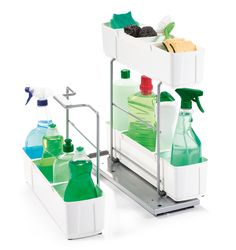 Our CleaningAGENT can help you keep under your sink organized and portable. Cleaning Agent, Cleaning Day, Deep Cleaning Tips, Bathroom Cleaning, Spring Cleaning, Under Sink Organization, Sink Organizer, Life Organization, Couples Bathroom