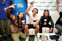 Savior of Sound Steve Aoki, Armin Van Buuren, & Avicii at the SOL REPUBLIC x Motorla Music Lounge