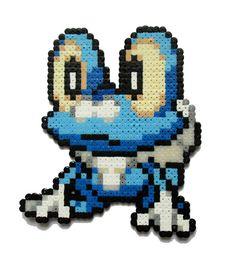 Pokemon Froakie perler bead sprite