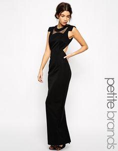 Jarlo Petite - Maxi robe avec détails aux épaules et encolure en tulle