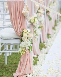 30 Bright Ideas Of Wedding Ceremony Decorations ❤ wedding ceremony decorations white flowers and pink drapink decorate darinimages #weddingforward #wedding #bride