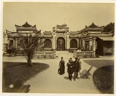 Pavillon D'Indochine Exposition Universelle Tirage albuminé 21x27 Circa 1900