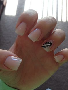 #nails #feather #pearl