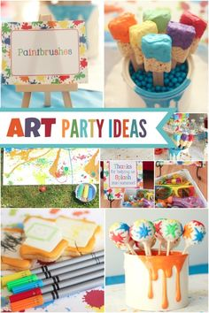 Boy's Arts and Crafts Themed Birthday Ideas: Splatter, Paint and Splash Party | Boy Birthday Party Ideas and Supplies - Spaceships and Laser Beams