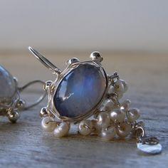 Moonstone Waterfall Earrings in Sterling Silver  http://www.yifat-bareket.com/store/earrings.html/