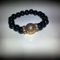 Bracciale in pietre naturali #bracelet #braceletcollection #bijoux #black #instabeauty #instafashion  #instashopping #picoftheday #perle Per info&costi mylovelycreation@libero.it