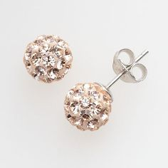 Champagne Crystal Ball Stud Earrings  sale $25.99