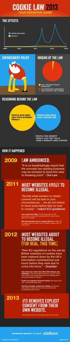 Cookie Law 2013 Definitive guide: l'infografica più divertente ever - #cookies #privacy #fun