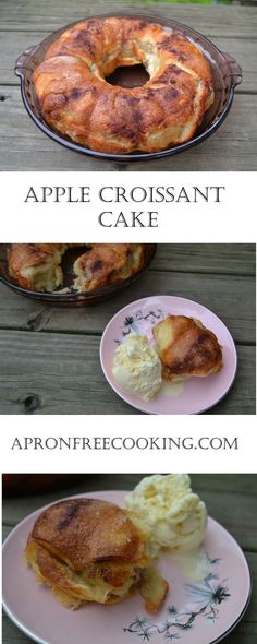 Apple Croissant Cake | Apron Free Cooking
