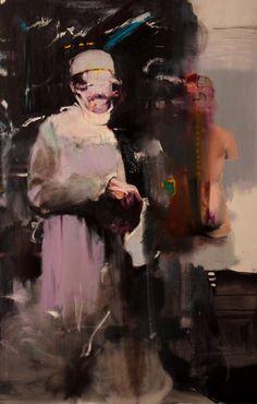 Adrian Ghenie, Doctor Josef (study for Kaiser Wilhelm Institut), oil on canvas, 70 7/8 x 46 1/16 in (180 x 117 cm)