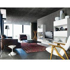 concrete walls + ceiling